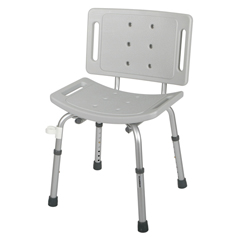 MEDG30400-4H - MedlineShower Chair with Back