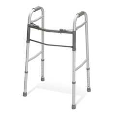 MEDG30755P-1 - MedlineTwo-Button Folding Walkers without Wheels