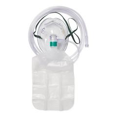 MEDHCS4640B - Medline - Partial Non-Rebreather Adult Mask with Reservoir Bag, Safety Vent, Check Valve, 7 Tubing and Standard Connectors, 50 EA/CS