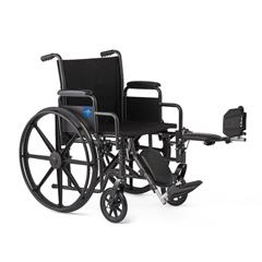 MEDK1166N22E - Medline - K1 Basic Wheelchair with Swing-Back Desk-Length Arms and Elevating Leg Rests, 16