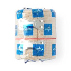 MEDMDS046003H - Medline - Bandage, Elastic, SoftWrap, 3x 5 Yd, Stretched, Clips