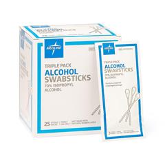 MEDMDS093810Z - Medline - Sterile Alcohol Swabsticks, 25 PK/BX