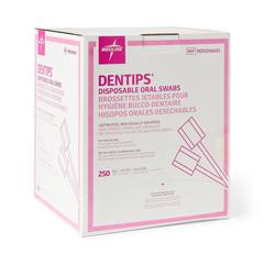 MEDMDS096602 - Medline - DenTips Untreated Oral Swabs, 1000 EA/CS