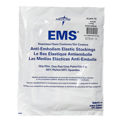 MEDMDS160628 - Medline - EMS Knee-High Anti-Embolism Stockings, White, Small, 12 PR/BX