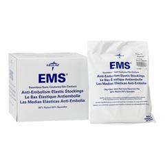 MEDMDS160648H - Medline - EMS Knee-High Anti-Embolism Stockings, White, Medium, 1/PR