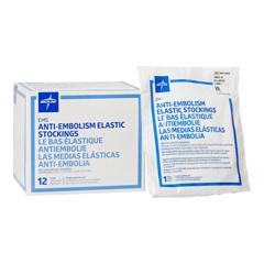 MEDMDS160698 - Medline - EMS Knee-High Anti-Embolism Stockings, White, XX-Large, 12 PR/BX