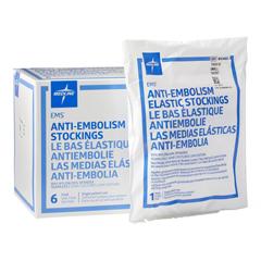 MEDMDS160820 - Medline - EMS Thigh-High Anti-Embolism Stockings, White, Small, 6 PR/BX