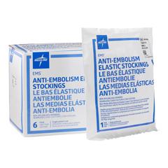 MEDMDS160824 - Medline - EMS Thigh-High Anti-Embolism Stockings, White, Small, 6 PR/BX