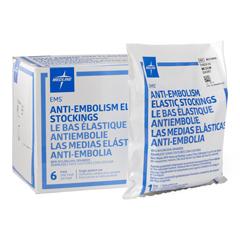 MEDMDS160840 - Medline - EMS Thigh-High Anti-Embolism Stockings, White, Medium, 6 PR/BX