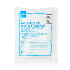 MEDMDS160844H - Medline - EMS Thigh-High Anti-Embolism Stockings, White, Medium, 1/PR