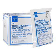 MEDMDS160848 - Medline - EMS Thigh-High Anti-Embolism Stockings, White, Medium, 6 PR/BX