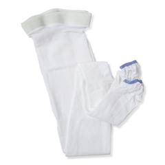 MEDMDS160868H - Medline - EMS Thigh-High Anti-Embolism Stockings, White, Large, 1/PR