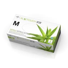 MEDMDS195285 - MedlineAloetouch Ice Powder-Free Latex-Free Nitrile Exam Gloves