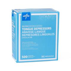 MEDMDS202065 - Medline - Non-Sterile Tongue Depressors, Wood, 6.00 IN, 5000 EA/CS