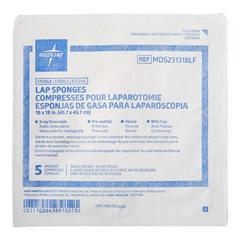 MEDMDS231318LF - Medline - X-Ray Detectable Lap Sponges, 20 PK/CS