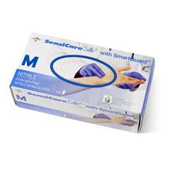 MEDMDS2585H - MedlineSensiCare Silk Nitrile Exam Gloves