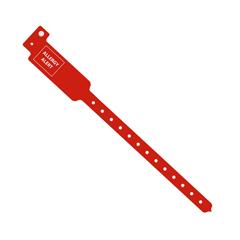 MEDMDS3104AAM - Medline - Tamper-Resistant Snap-Closure Alert ID Bands, Red, 250 EA/BX