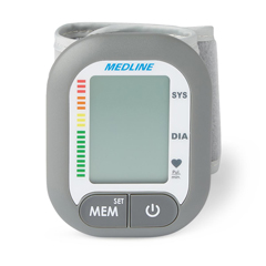 MEDMDS4003 - Medline - Digital Wrist Blood Pressure Monitor Unit with Wrist Cuff 13.5 cm to 21.5 cm, 1/EA