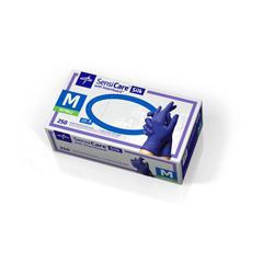 MEDMDS7583 - MedlineSensiCare Silk Nitrile Exam Gloves