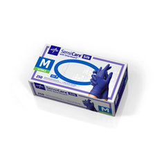 MEDMDS7583H - MedlineSensiCare Silk Nitrile Exam Gloves