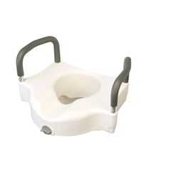 MEDMDS80316 - MedlineSeat, Toilet, Locking, Elevated, with Arms