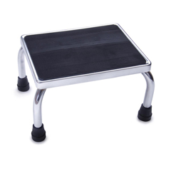 MEDMDS80430I - MedlineChrome Footstool with Rubber Mat