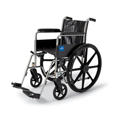 MEDMDS806100D - Medline2000 Excel 18 Wheelchair w/Permanent Arms (MDS806100D)