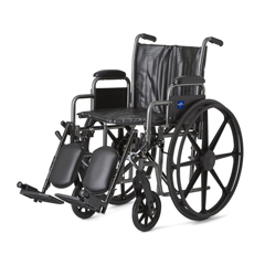 MEDMDS806300EV - MedlineK2 Basic Vinyl Wheelchairs, 1/EA