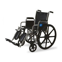 MEDMDS806450 - Medline - Excel Wheelchair with Desk-Length Arms and Elevating Leg Rests, Black, 20, 300 lb. Capacity