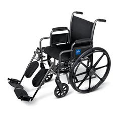 MEDMDS806450EE - MedlineK1 Basic Extra-Wide Wheelchair (MDS806450EE)