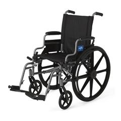 MEDMDS806500E - MedlineK4 Basic Lightweight Wheelchairs, 1/EA