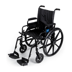 MEDMDS806570 - Medline - K4 Extra-Wide Lightweight Wheelchair with Swing-Back Desk-Length Arms and Swing-Away Footrests, 22 Width