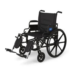 MEDMDS806575 - MedlineK4 Extra-Wide Lightweight Wheelchairs, 1/EA