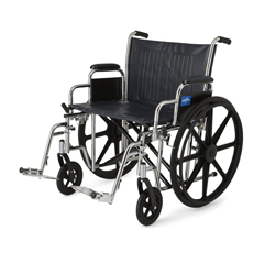 MEDMDS806800 - Medline - Excel Wheelchair with Removable Desk-Length Arms and Swing-Away Footrests, 22W