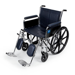MEDMDS806850FLA - Medline - Excel Wheelchair with Removable Full-Length Arms and Elevating Footrests, 22W