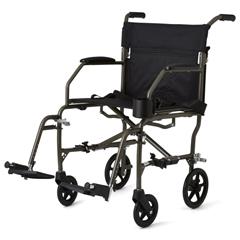 MEDMDS808200F3S - Medline - Ultralight Transport Chairs, Silver, F: 6  R: 8, 1/EA