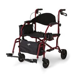 MEDMDS808200TRR - MedlineCombination Rollator/Transport Chair