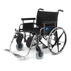 MEDMDS809750 - MedlineShuttle Extra-Wide Wheelchair (MDS809750)