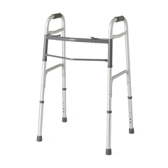 MEDMDS864104 - MedlineTwo-Button Folding Walkers without Wheels