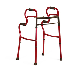 MEDMDS86410URR - MedlineAdult Stand-Assist Walkers, Red, 2EA/CS