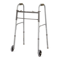 MEDMDS86410W54BH - Medline - 2-Button Basic Walker with 5 Wheels