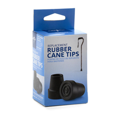 MEDMDS86426W - MedlineCane Replacement Tips-Black
