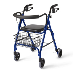 MEDMDS86810B - Medline - Deluxe Rollators, Blue, 6, 1 EA/CS