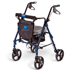 MEDMDS86826SC - MedlineDeluxe Comfort Rollators, Blue