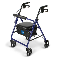 MEDMDS86850EB - Medline - Basic Rollators, Blue, 6, 1/EA