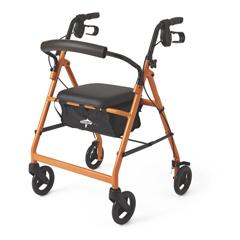 MEDMDS86850EO - MedlineBasic Rollator, Orange