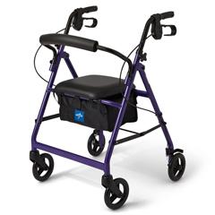 MEDMDS86850EP - MedlineBasic Rollator, Purple
