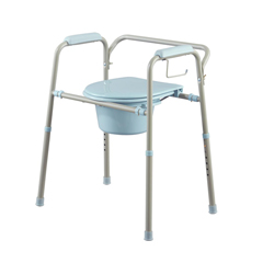 MEDMDS89664KDMB - MedlineSteel Commode with Microban