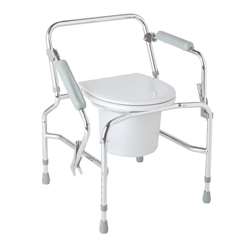 MEDMDS89668 - MedlineSteel Drop-Arm Commode