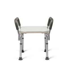 MEDMDS89740RWAH - MedlineKnockdown Bath Bench with Arms, White, 1/EA